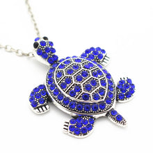 Load image into Gallery viewer, Blue Turtle Pendant Necklace.