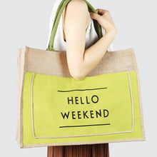 Load image into Gallery viewer, Cool green Eco-Friendly Linen Bag. Best lifestyle product.