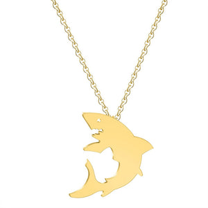 Gold Shark Necklace
