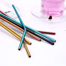 Load image into Gallery viewer, Eco-Friendly Reusable Stainless Steel Straws