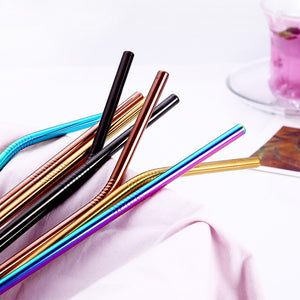 Eco-friendly reusable steel straws