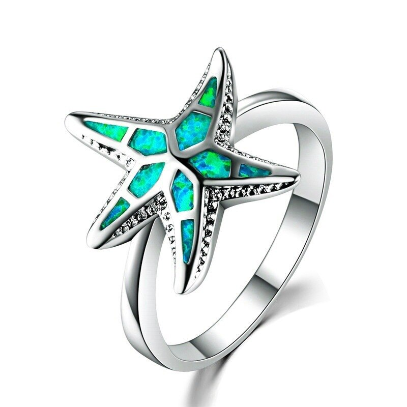 Green Starfish Ring.