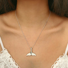 Load image into Gallery viewer, Silver Whale Tail Pendant Necklace