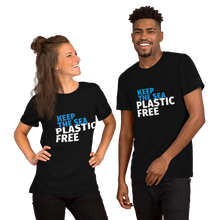 Load image into Gallery viewer, Keep the Sea Plastic Free Men's T-shirt.