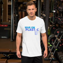 Load image into Gallery viewer, White War on Plastic Men's T-Shirt.
