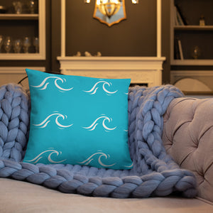 Wave print pillow