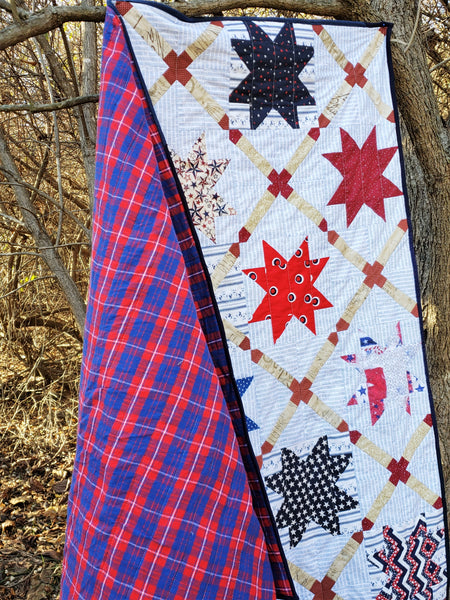 Quilts for a Cause: Stars and Straps Throw Quilt for the Armed Services YMCA