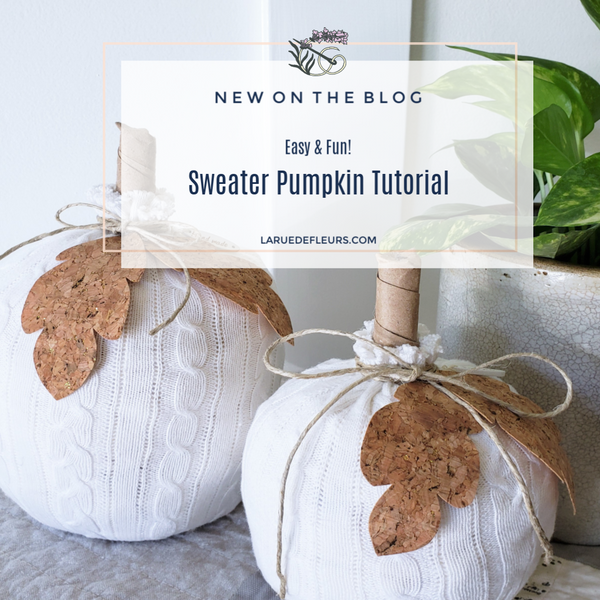 No Sew Recycled Sweater Pumpkin Tutorial