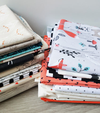 Selecting fabrics for a patchwork minky blanket