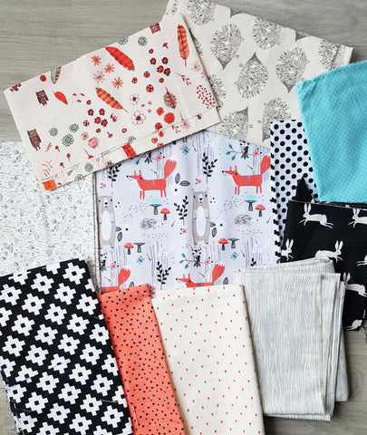 when selecting fabrics for a patchwork minky blanket, look for both color and theme