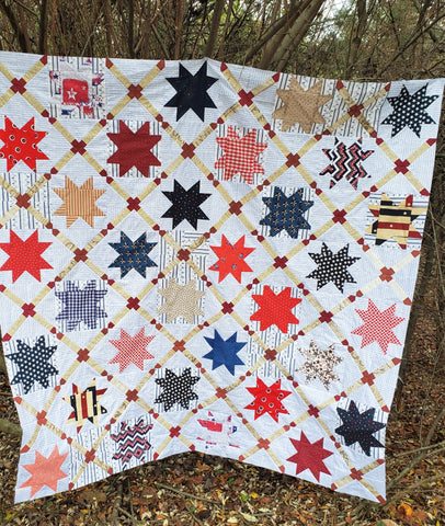 Stars and Straps Throw Quilt
