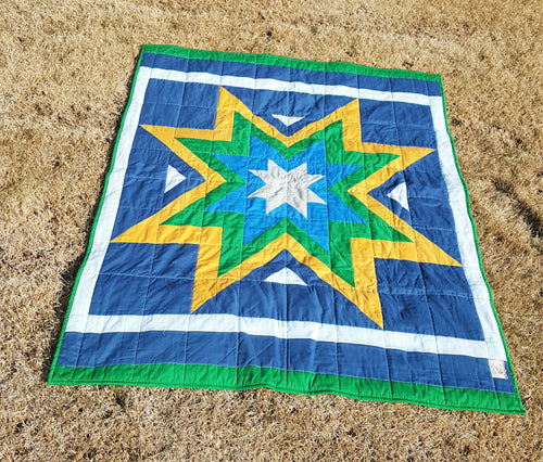 Modern Starburst Toddler Quilt