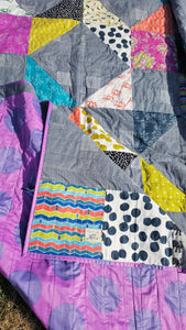 bright and bold twin quilt from La Rue de Fleurs