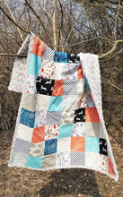 Load image into Gallery viewer, Forest Friends Patchwork Minky Blanket