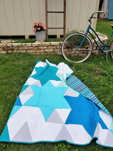 Modern Star Throw Quilt