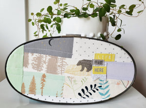 Soft Canvas Hoop Art (Oval)