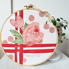 Load image into Gallery viewer, Soft Canvas Hoop Art (Large w/ Appliqué)