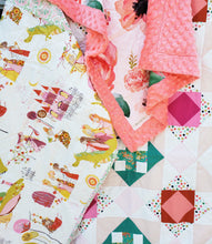 Load image into Gallery viewer, Floral Cross Quilt and Lovey Gift Bundle