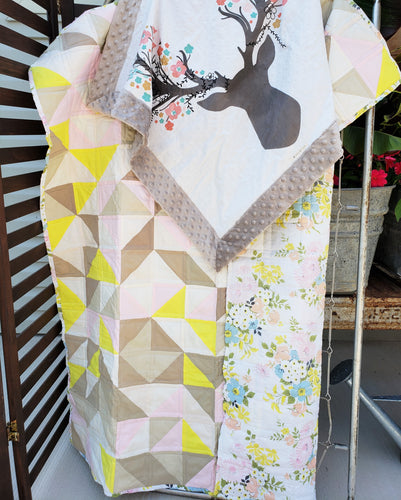 Summer Stag Quilt and Lovey Gift Bundle