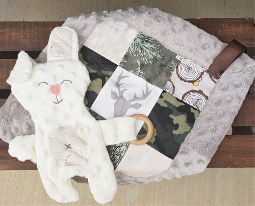 Forest Teething Bunny Lovey Bundle