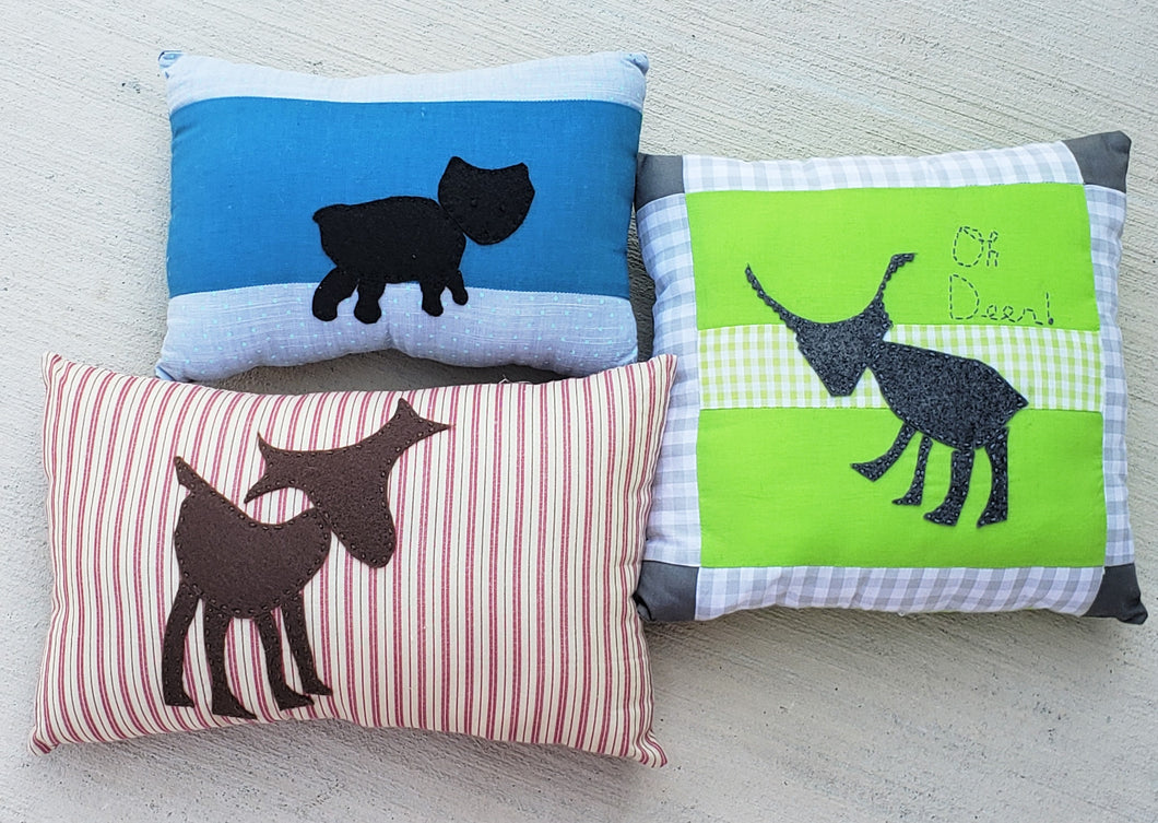 Woodland Animal Felt Appliquè Pillow Set