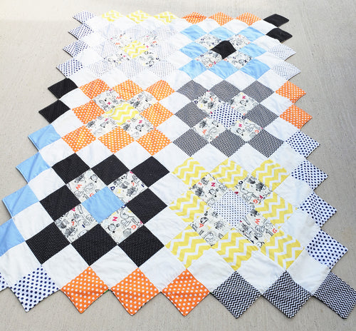 Alphabet Soup Throw Quilt