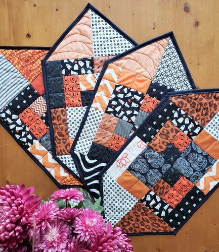 Halloween Patchwork Place Mat Set of Four