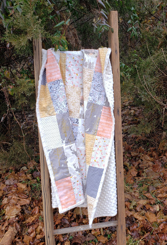 Woodland Minky Blanket (Forest Sunrise)