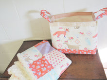 Load image into Gallery viewer, Fabric Storage Basket (Boho Fox)