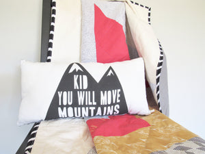 Moving Mountains Pillow (Gray)