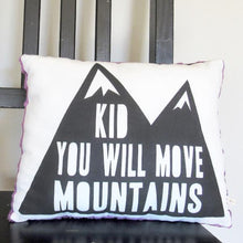 Load image into Gallery viewer, Moving Mountains Pillow (Square Purple)