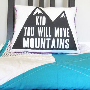 Moving Mountains Pillow (Square Purple)