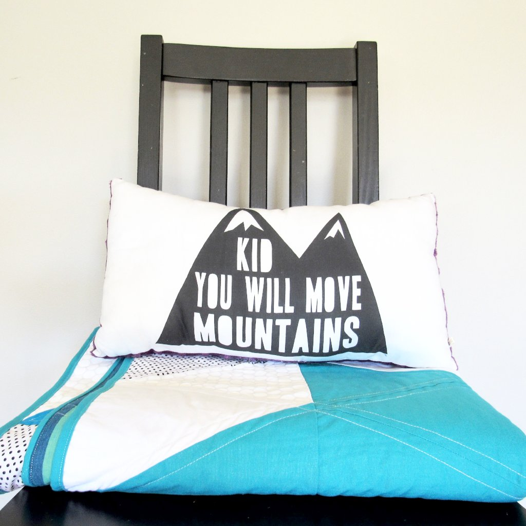 Moving Mountains Pillow (Purple)