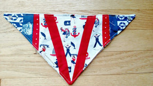Salty Sailor Patchwork Bandanna Baby Bib