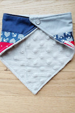 Load image into Gallery viewer, Bandanna Baby Bib (Nautical Patchwork)