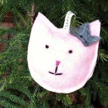 Load image into Gallery viewer, Pink Cat Ornament