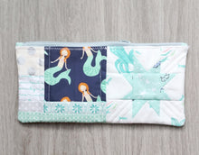 Load image into Gallery viewer, Aqua Mermaid Quilted Zipper Pouch