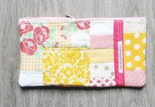 Load image into Gallery viewer, Tea Party Quilted Zipper Pouch