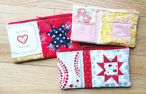 Tea Party Quilted Zipper Pouch