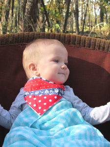 Bandanna Baby Bib (Buoy Nautical Patchwork)