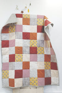 Modern Woodland Patchwork Toddler Quilt
