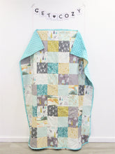 Load image into Gallery viewer, Woodland Minky Blanket (Wander Mint)