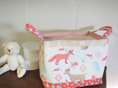 Fabric Storage Basket (Boho Fox)