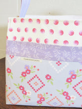 Load image into Gallery viewer, Fabric Storage Basket (Purple Floral)