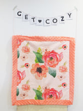 Load image into Gallery viewer, Watercolor Rose Minky Lovey