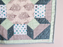 Load image into Gallery viewer, Hedge Hog Shimmer Block Art Quilt