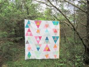 Chasing Rainbows Modern Geometric Kid's Quilt