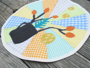 Modern Cup and Twig Applique Place Mat