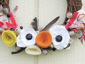 Bohemian Feather Autumn Wreath