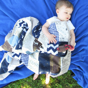 Wilderness Patchwork Minky Blanket